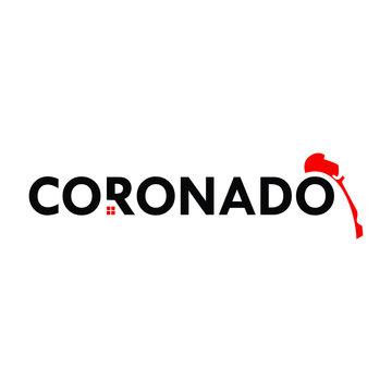 Coronado Logo. Map Symbol. Home Icon. Vector Illustration.
