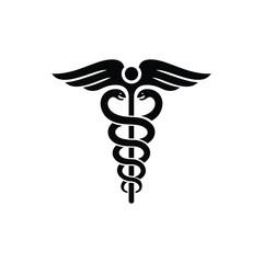 Caduceus Logo. Medical Symbol. Healthy Icon. Vector Illustration.