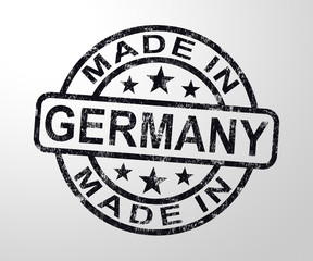 Made in Germany stamp shows German products produced or fabricated - 3d illustration