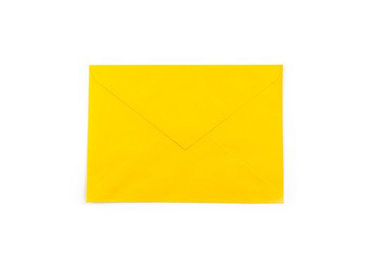 orange envelope for wedding invitation cards design template.