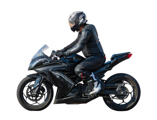 racer on a sports motobike