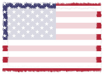 Border made with United States national flag.