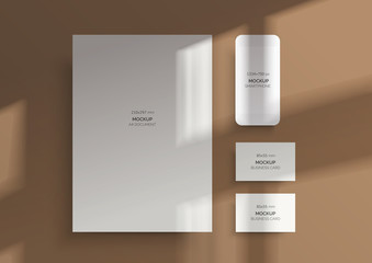 Branding Mockups. Natural lighting shadows overlay