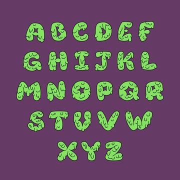 Slime capital vector alphabet