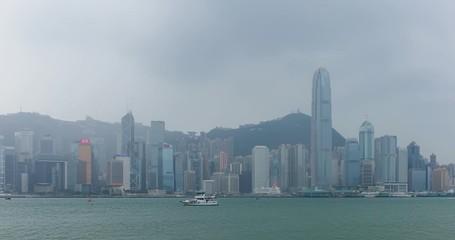 Fotomurales - Hong Kong landmark timelapse