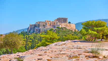 Wall Mural - Panoramic view of the Acropolis in Athens