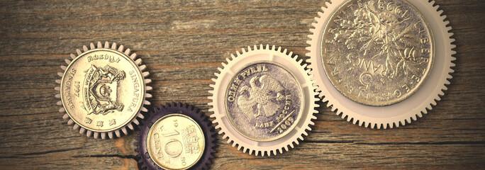 money gear, close up