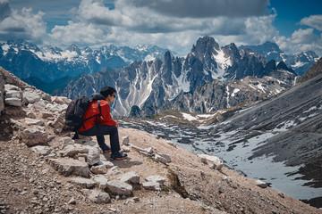 The landscape around Tre Cime di Lavaredo, Dolomites, Italy