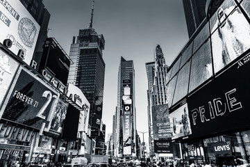 Times Square in New York City, the USA