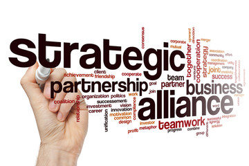 Strategic alliance word cloud