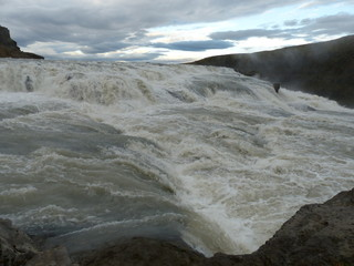 The beautiful Gullfoss waterfall in Iceland