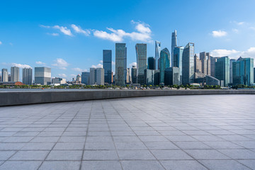 Wall Mural - shanghai city skyline