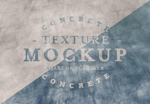 Concrete Texture Text Effect