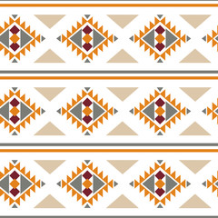 Photo sur Aluminium Style Boho Tribal southwestern native american navajo seamless pattern