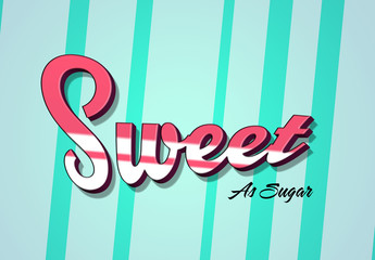 3D Candy Stripe Text Effect