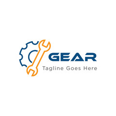 gear logo and icon vector illustration design template