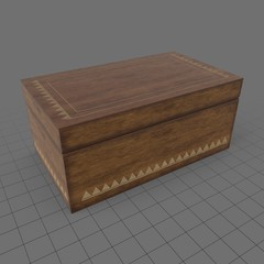 Closed wooden box