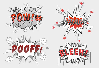 Cartoon Speech Bubble Text Effect Mockup