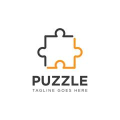 puzzle logo and icon vector illustration design template