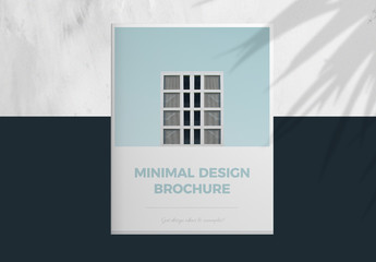 Brochure Layout with Light Blue Accents