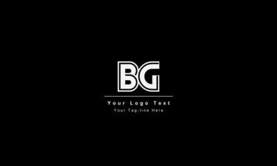 BG or BG letter logo. Unique attractive creative modern initial BG GB B G initial based letter icon logo
