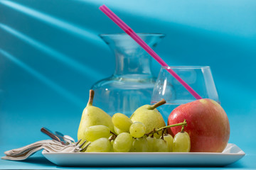 vegan breakfast with fruits