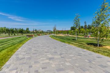 Park in Volgograd, Russia