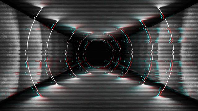 Modern abstract black glitch tv wallpaper. Grunge background in futuristic design. Television screen error. Abstract pixel video damage noise glitch error .