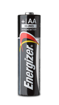 Product shot of Energizer AA alkaline battery