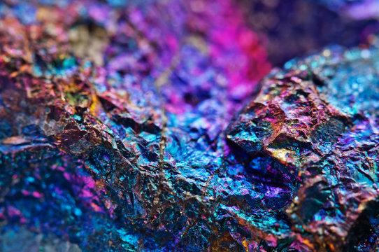 Colorful background. Natural natural material, mineral. Macro
