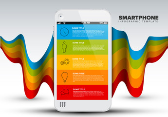 Colorful Smartphone Infographic