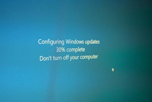 REDMONT - OCT 2019: Microsoft Windows update