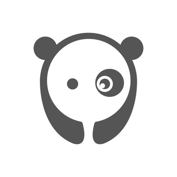 Panda vector logo illustration graphic abstract premium sign. EPS 10