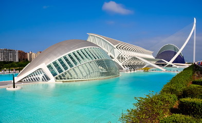Valencia, Spain - June 2019: City of Arts and Sciences by Santiago Calatrava
