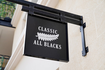 sign logo classic all blacks new zealand rugby fashion store shop