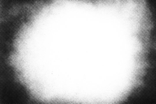 Vintage black and white halftone vector texture. Abstract splattered background for vignette overlay effect