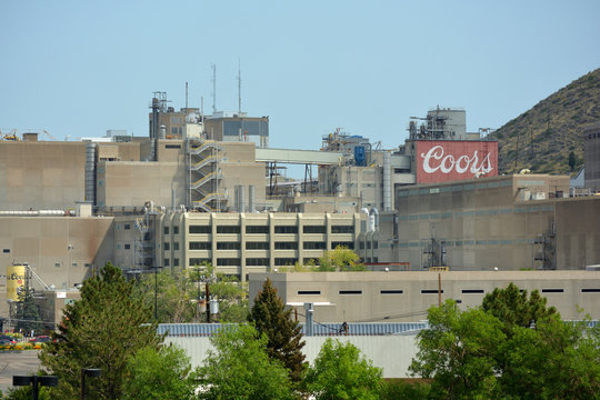 GOLDEN, COLORADO, USA - September 4, 2017: The Coors Brewing Company maintains the world's largest single-site brewery in Golden, Colorado.