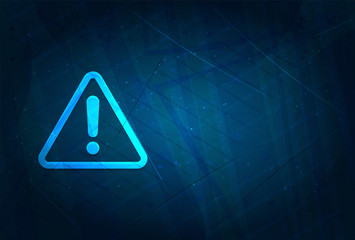 Alert icon futuristic digital abstract blue background