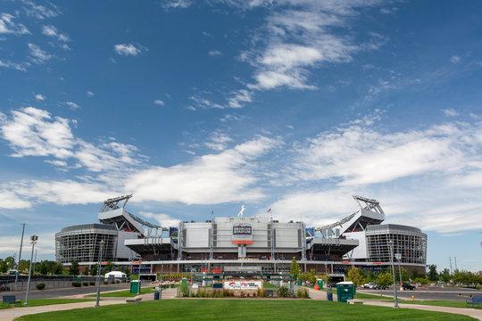 DENVER, CO, USA - August 24, 2019: Broncos Stadium at Mile High is the home of the Denver Broncos NFL football team.