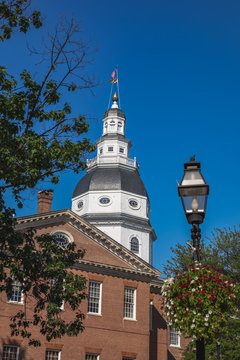 Maryland State House Dome in Annapolis