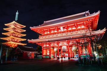 Zelfklevend Fotobehang Bedehuis Senso-ji temple