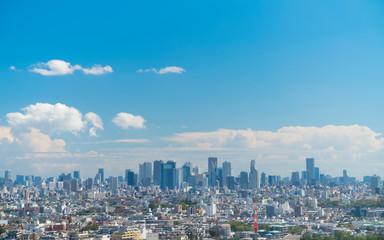 東京 新宿高層ビル群 タイムラプス 江古田方面より望む 2019年10月