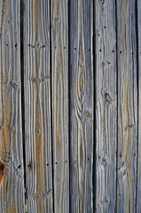 Vertical wooden planks
