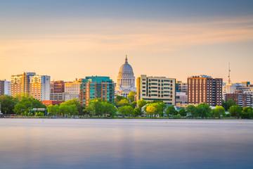 Fototapeta Madison, Wisconsin, USA downtown skyline obraz