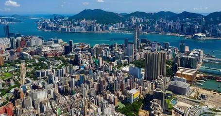 Wall Mural - Hong Kong downtown timelapse