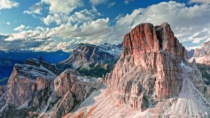 Wall Mural - Averau peak near Passo Giau, aerial view, Dolomites, Italy
