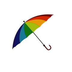 Big Rainbow Umbrella Vector Image