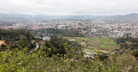 The Malagasy city of Fianarantsoa