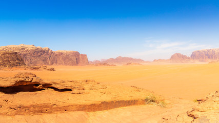 Approach to Wadi Rum - Shapes of Mountains
