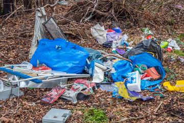 Müllhalde im Wald